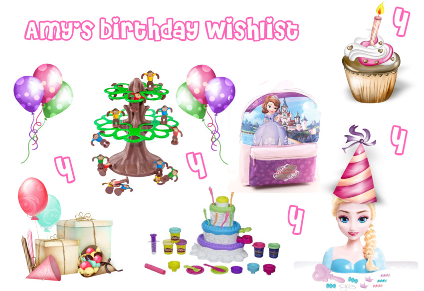 Amy's birthay wishlist