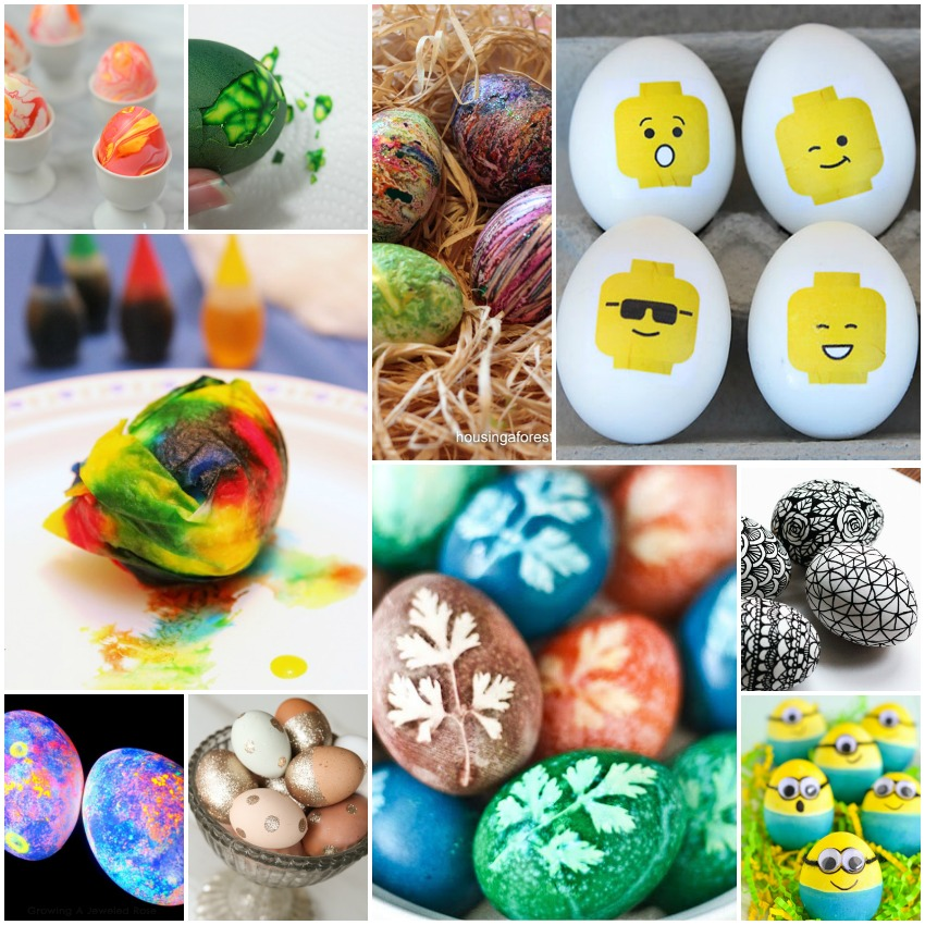 30 ways to decorate easter eggs for Easter egg ideas