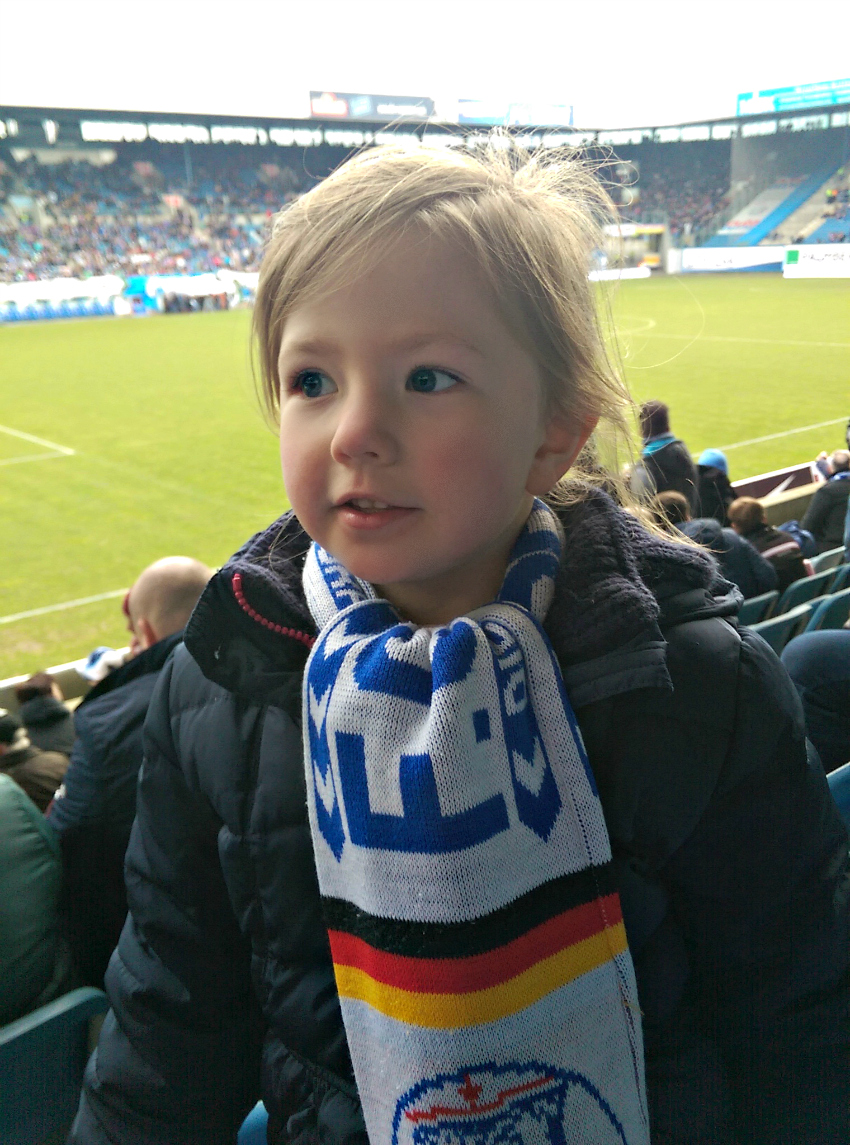 Amy's first football match, Hansa Rostock, DKB Arena, Ostseestadion