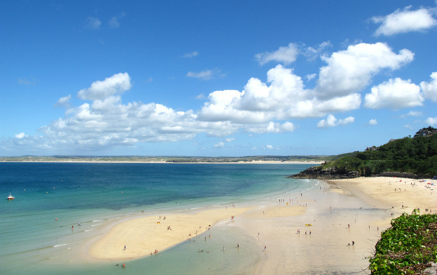 best beaches in the south west, carbis bay, cornwall