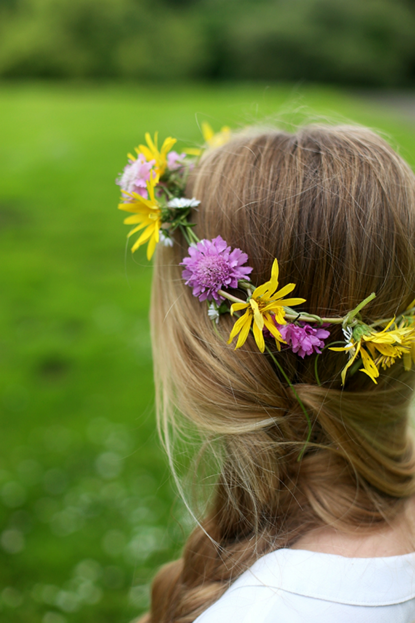 how to make a flower crown, nature crafts for summer