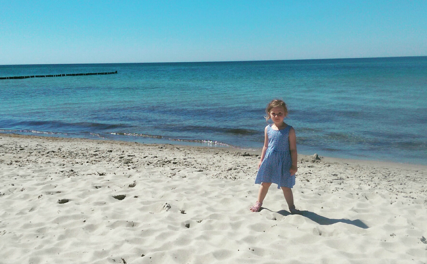 our week of summer sunshine - Amy at Ahrenshoop beach