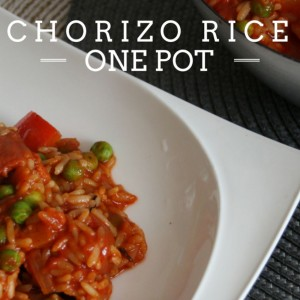 Tasty chorizo rice pot