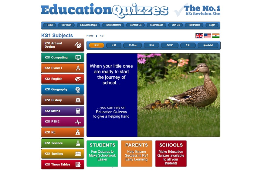 education quizzes, help your kids revise