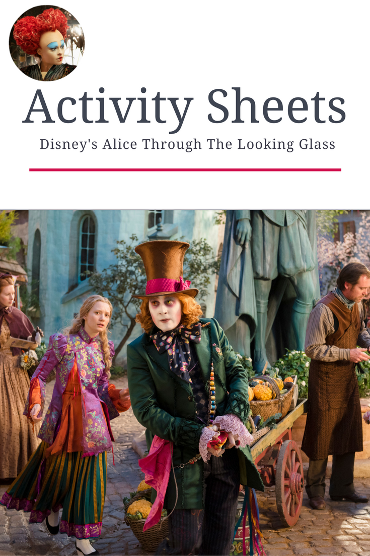 alice through the looking glass activity sheets, alice through the looking glass crafts