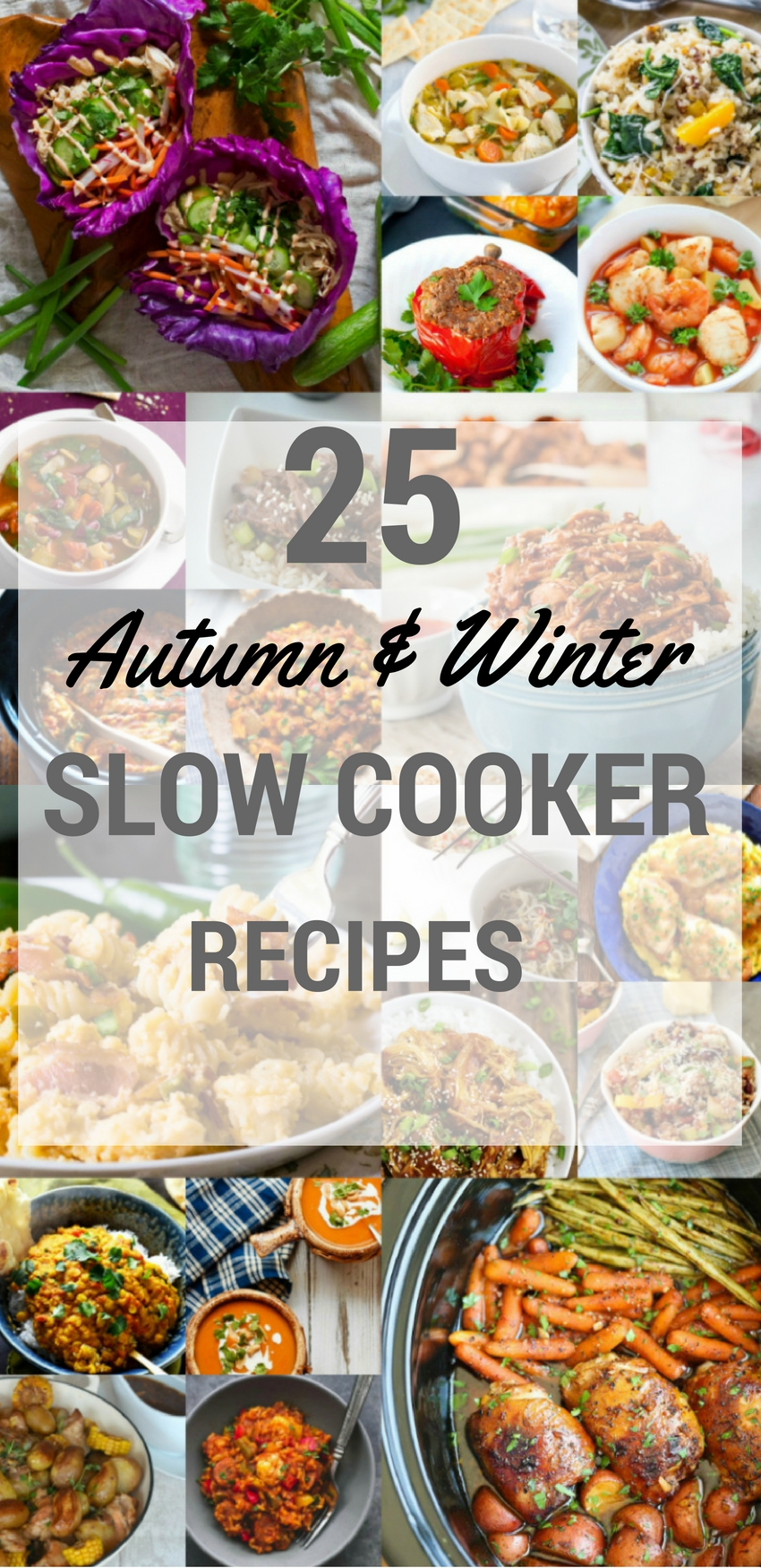 25 slow cooker recipes for autumn and winter: Quick and simple to prepare crock pot meals for all the family. For images and recipes, check out my blog post...
