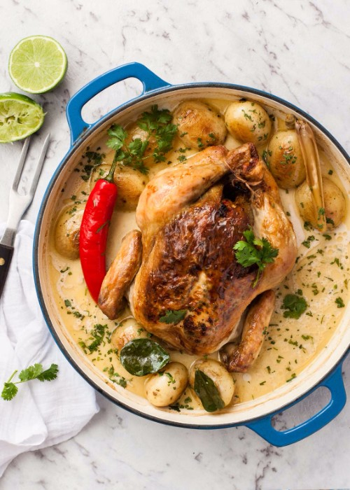 slow cooker recipes coconut pot roasted chicken