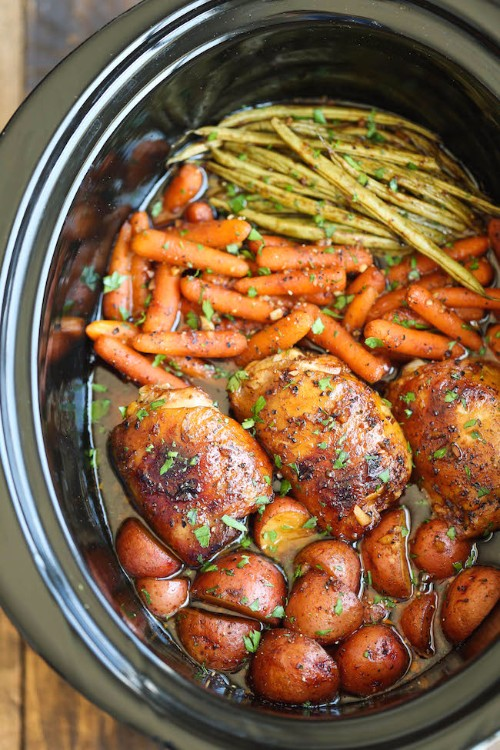 slow cooker recipes honey garlic chicken with vegetables
