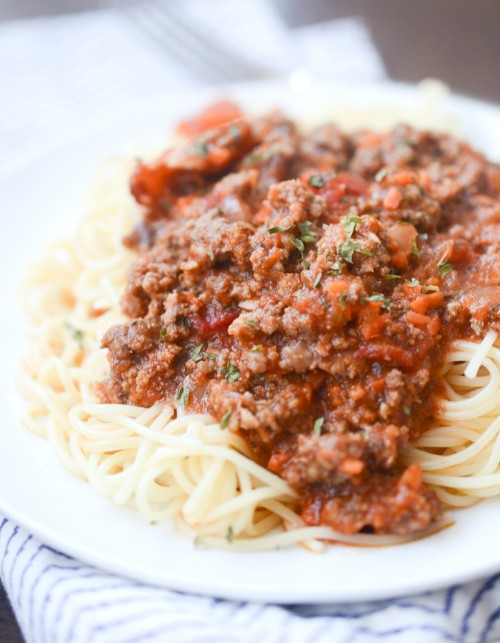 slow cooker recipes spaghetti bolognese