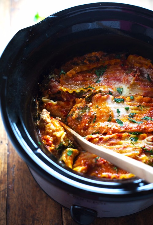 slow cooker recipes veggie lasagna