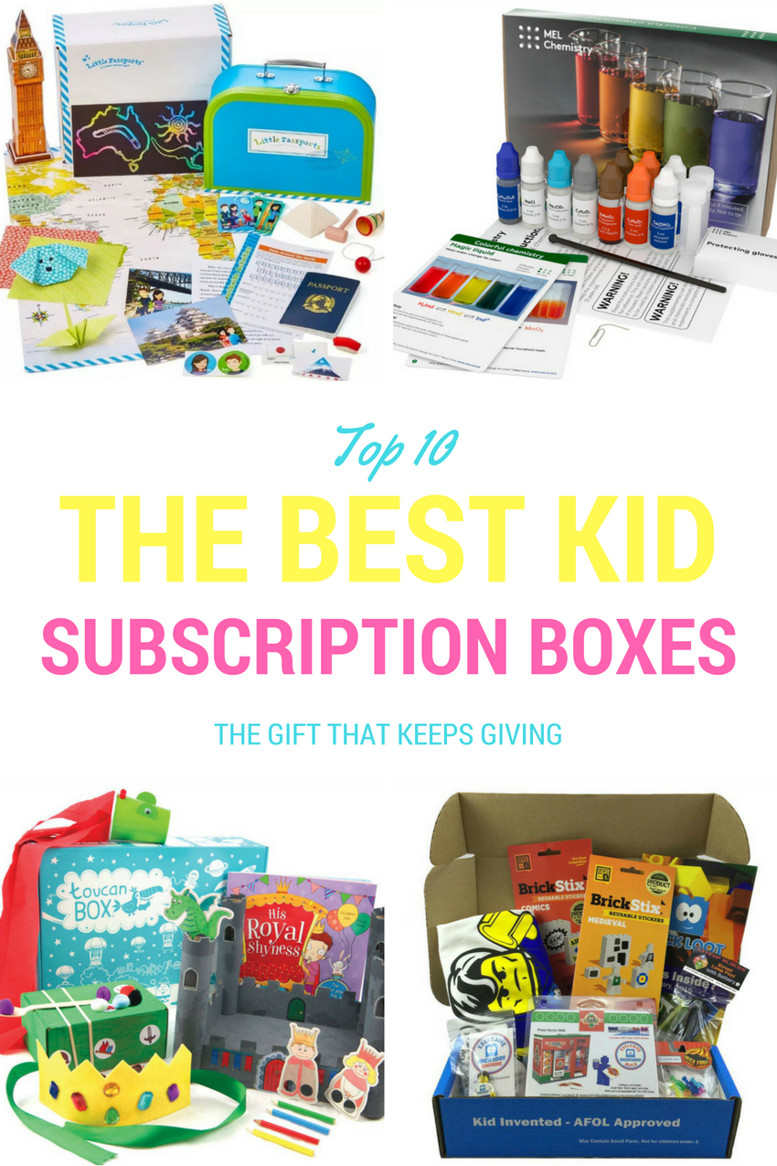 fun and educational subscription boxes for kids, the best subscription box for kids, the best subscription box for kids