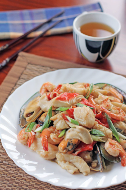 takeaway recipes Mixed Seafood With Oyster Sauce