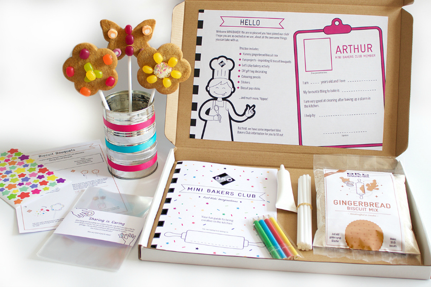 subscription box for kids - mini bakers club