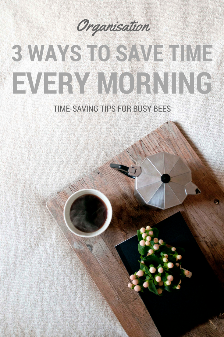 how to save time in the morning