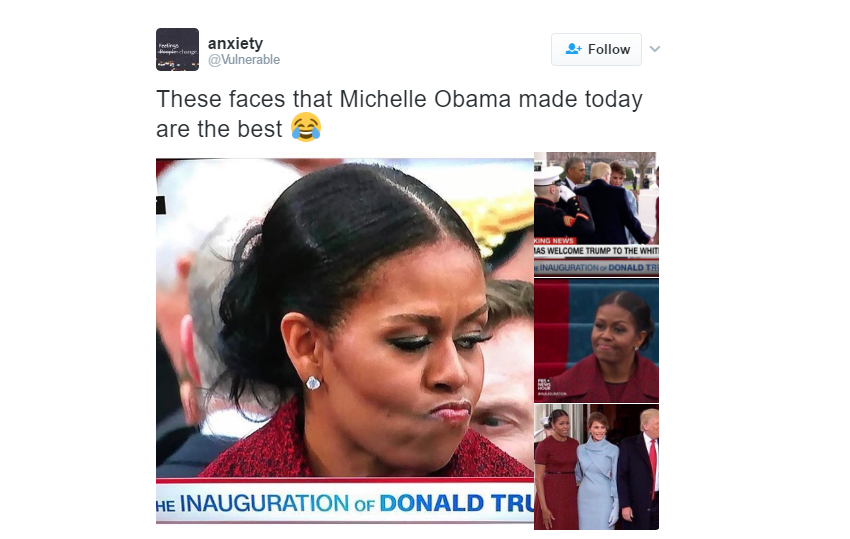 michelle obama inauguration faces