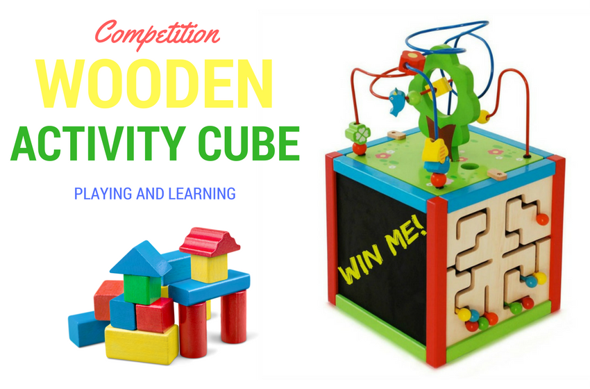 wooden activity cube competition