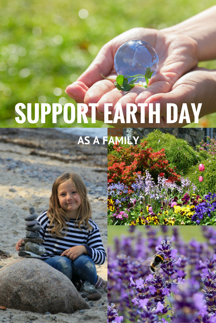 how to support earth day as a family, environmentally friendly living for families