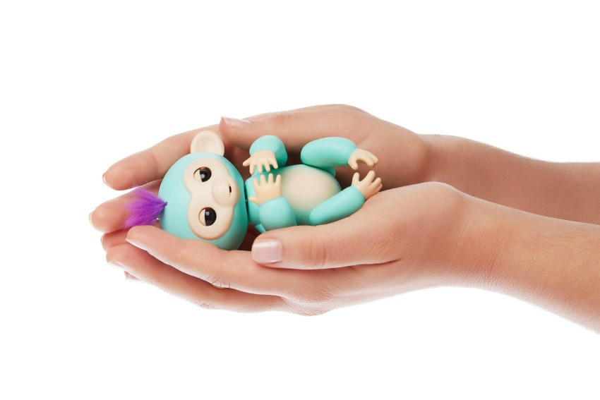 Fingerlings Monkey toys turquoise