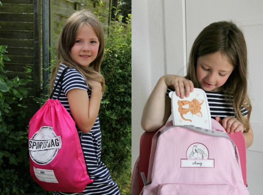 personalised back to school bundle, personalised drawstring bag, personalised backpack, unicorn backpack, personalised lunch box