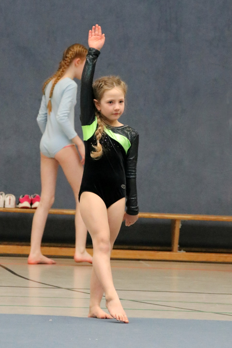 Amy's first gymnastics competition 1