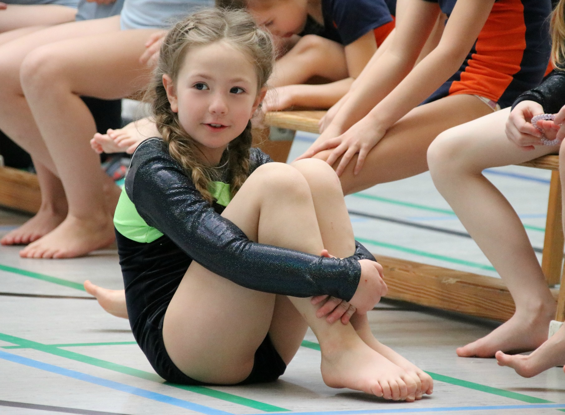 Amy's first gymnastics competition