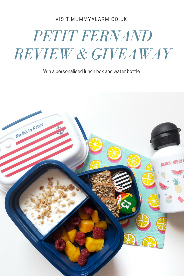 Petit Fernand Review & Giveaway - personalised lunch box, water bottle, bento box