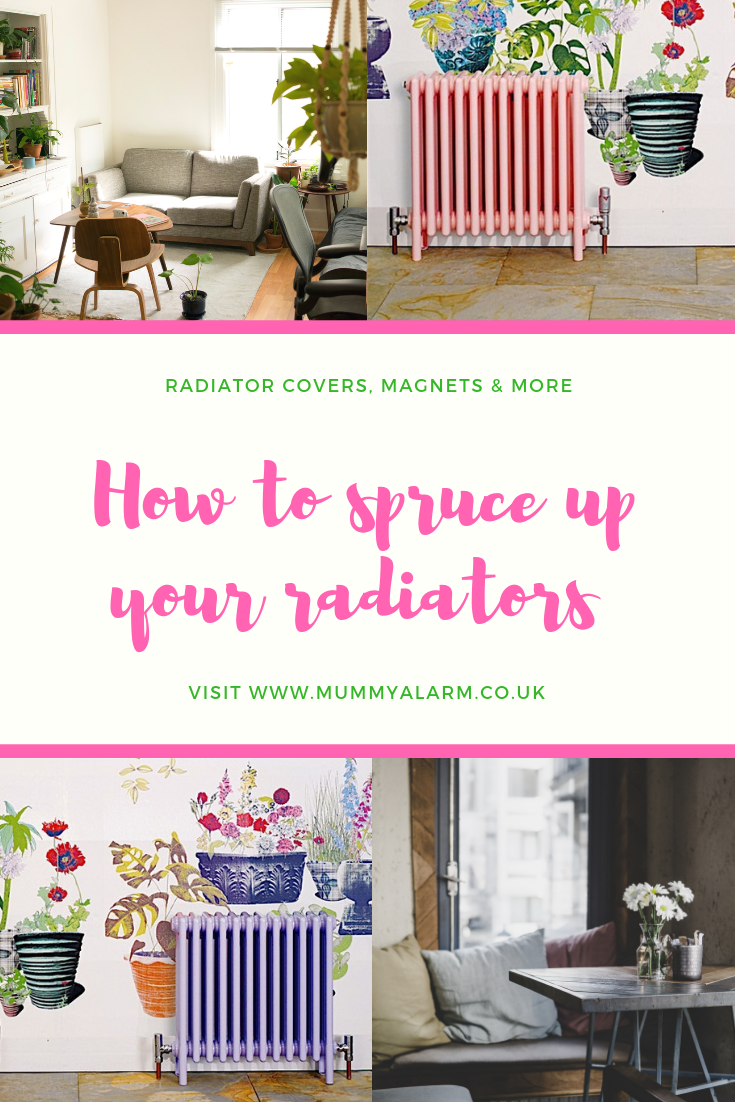 designer radiators and ways to spruce up your radiators - radiator covers, magnets and painting your radiator