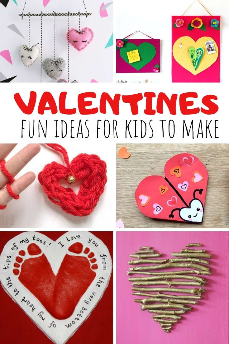 Valentines Day crafts Fun Ideas for Kids to make on Valentines