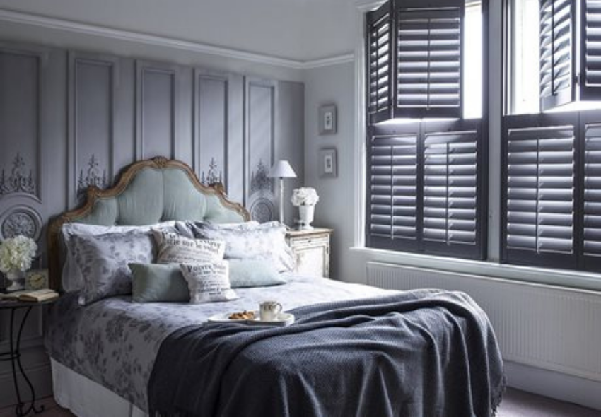 luxury interior design with california shutters for your bedroom (1)