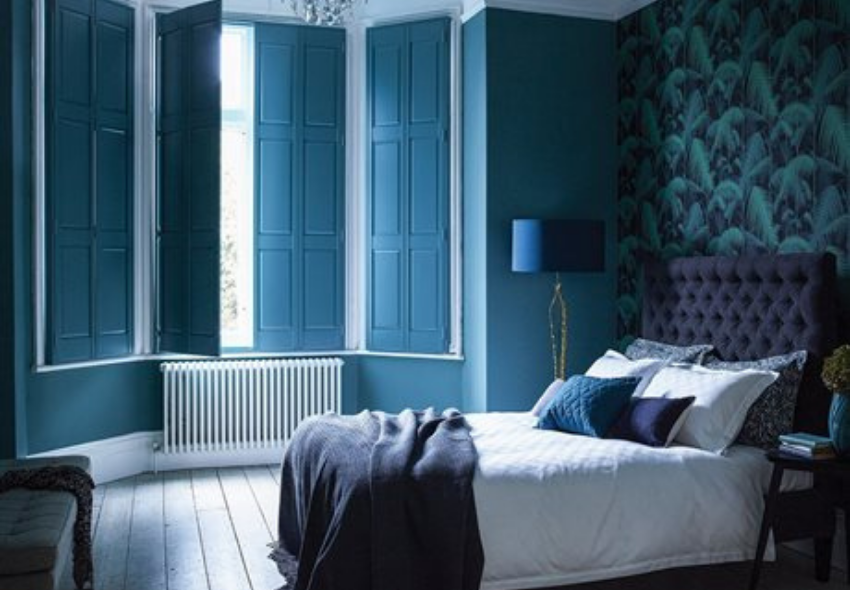 luxury interior design with california shutters for your bedroom